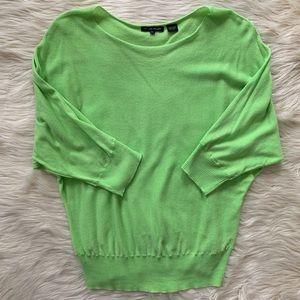 Jeanne Pierre Lightweight Sweater, Neon Green, XL